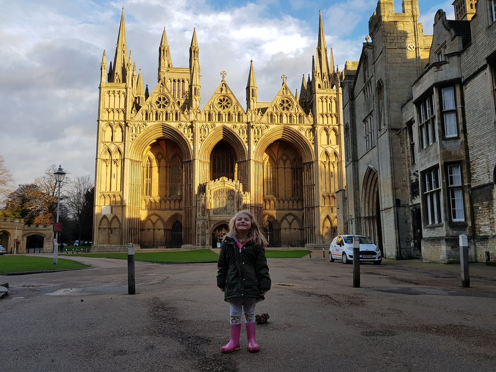 A visit to Peterborough Cathedral with my daughter