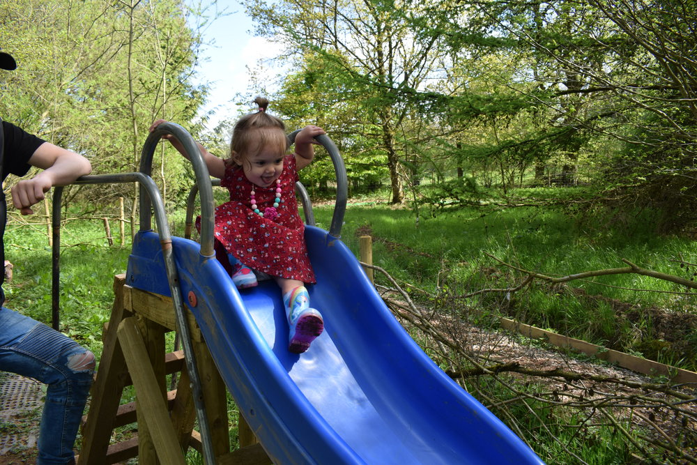 Checking out the play area at Stocks Wood Outdoor Centre