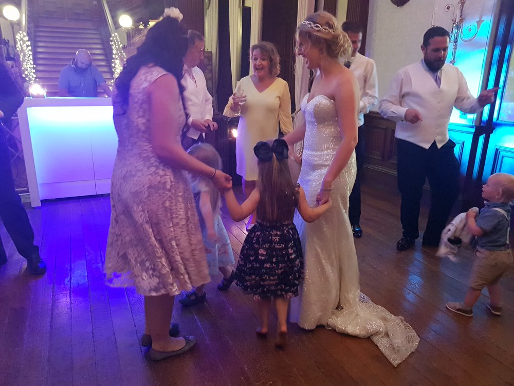 Dancing the night away at the wedding reception