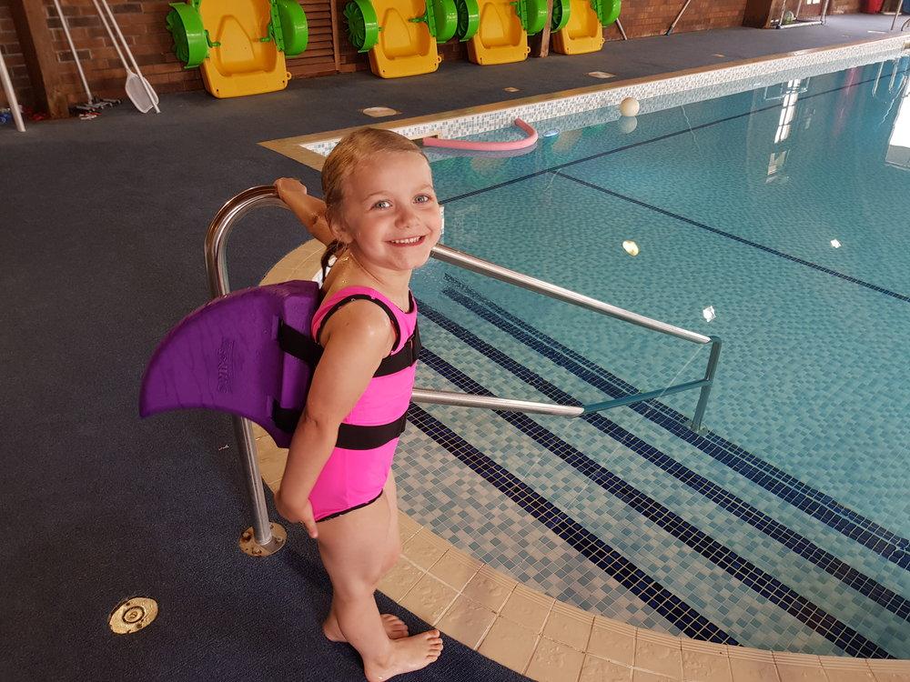 Swim fin purple shark fin