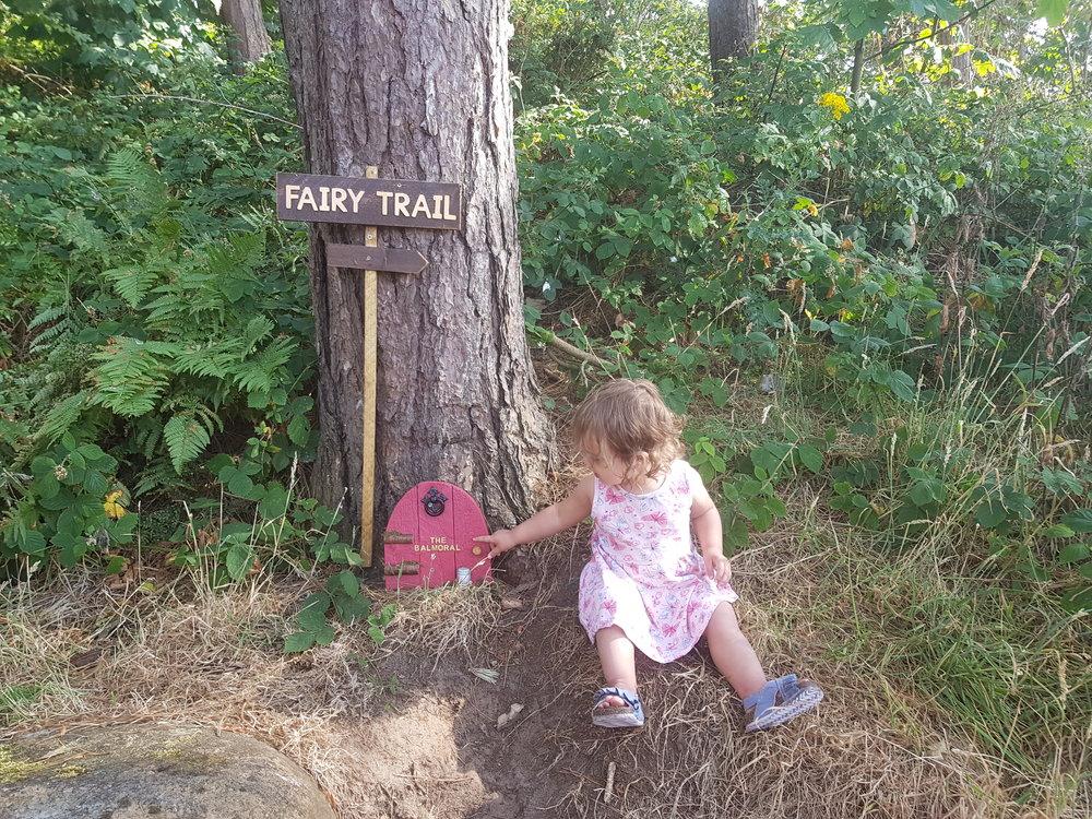 Fairy trail at Silloth Beach, Cumbria