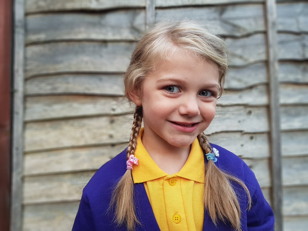 First school uniform photo