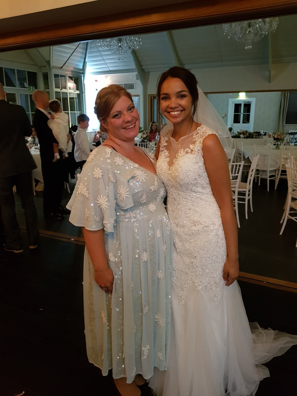 With the gorgeous bride in my SENCHA Embellished Midi Dress from ELVI