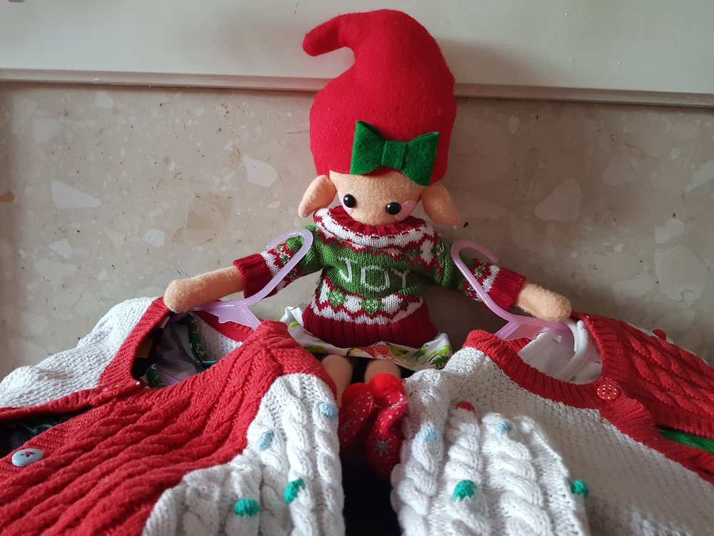 Elf on a Shelf December 14th Christmas jumpers