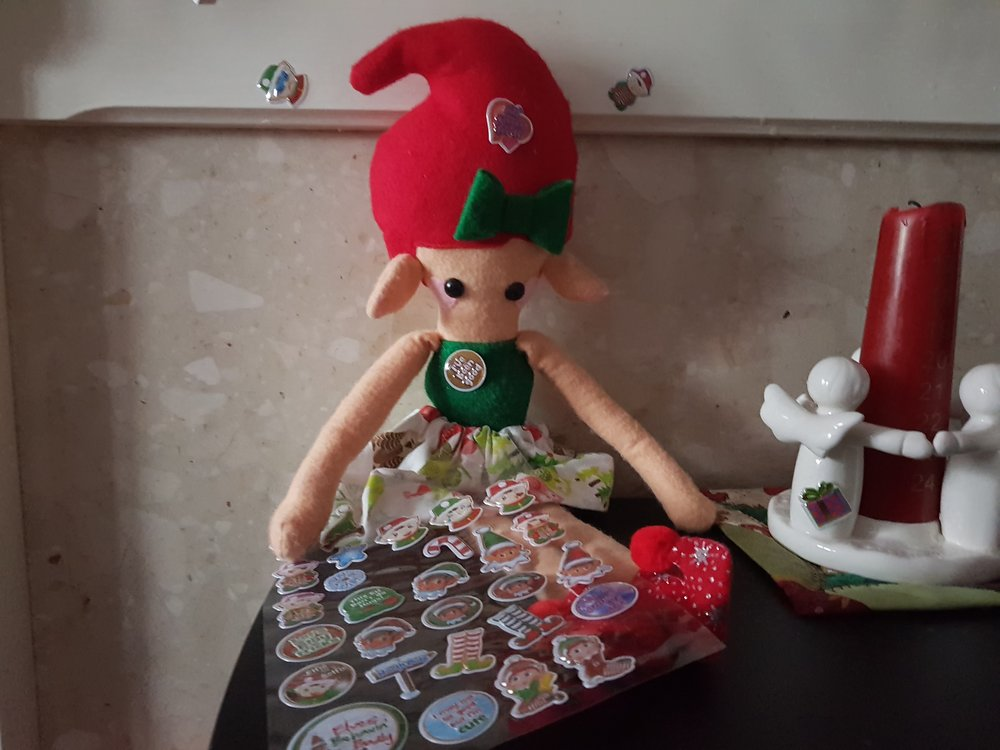 Elf on a Shelf December 21st Stickers