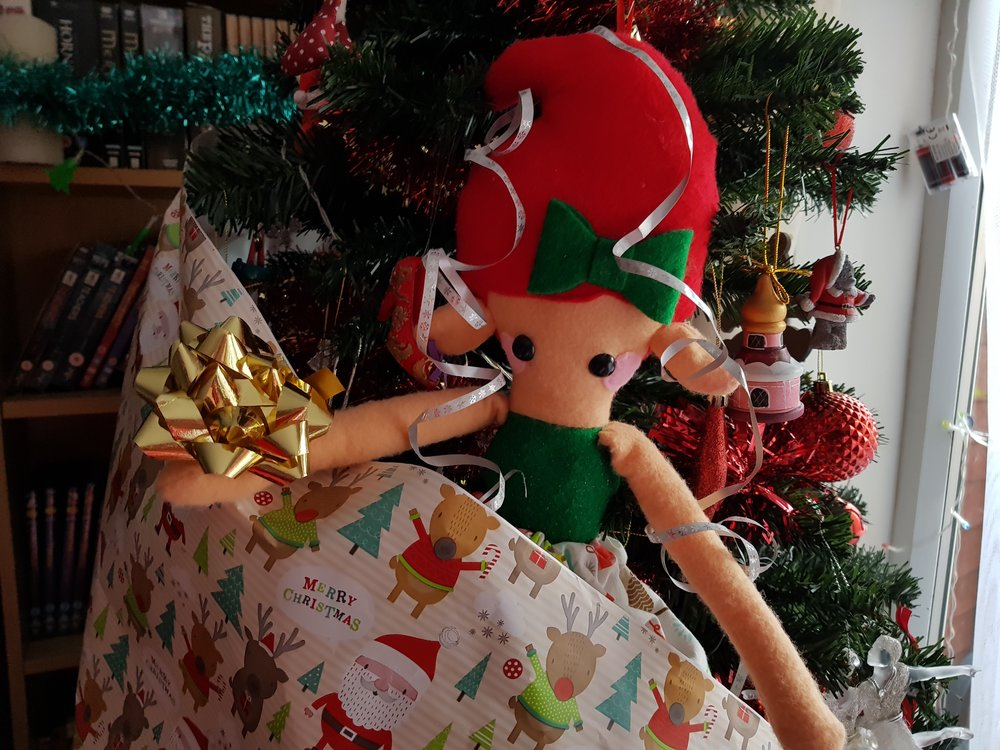 Elf on a Shelf December 22nd Christmas wrapping