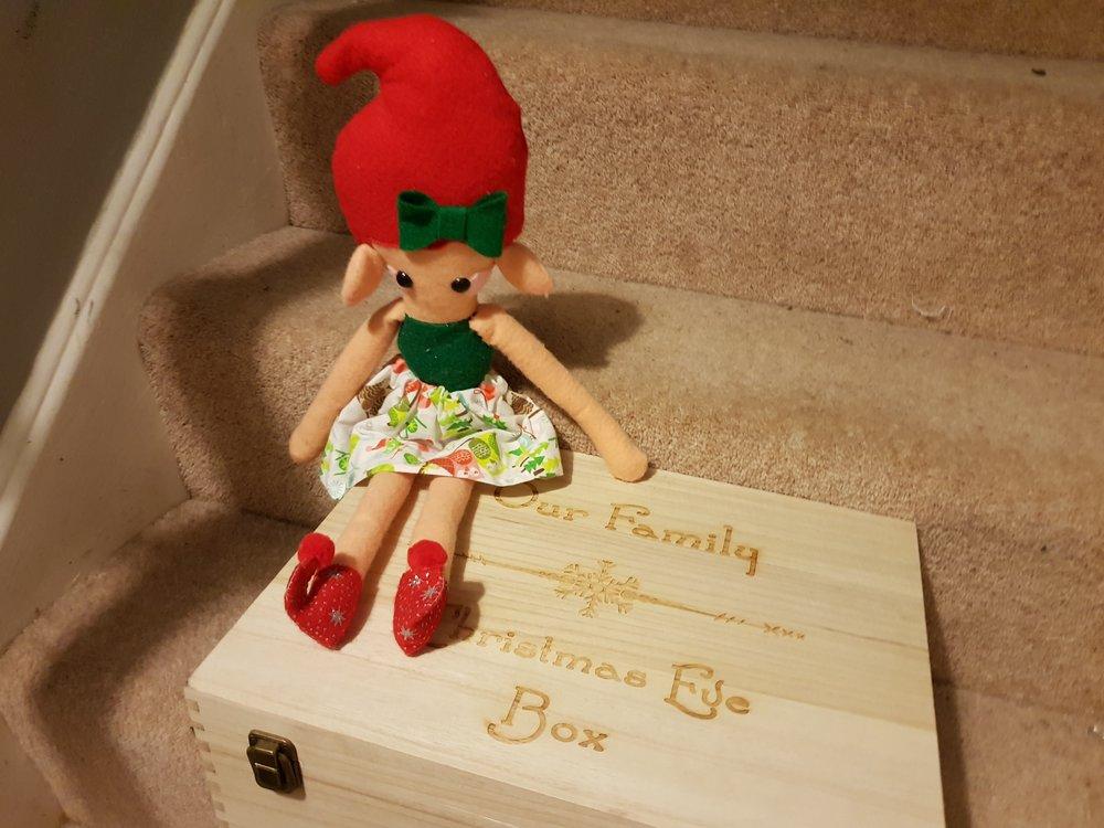 Elf on a Shelf December 24th Christmas Eve Box
