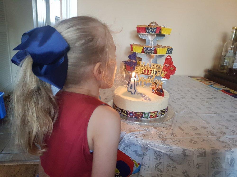 Squidgy's superhero fourth birthday February 2018