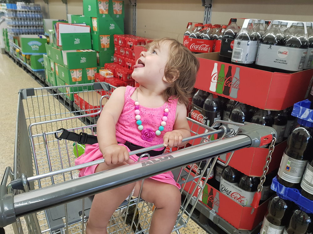 the clam before the storm of a toddler tantrum whilst food shopping
