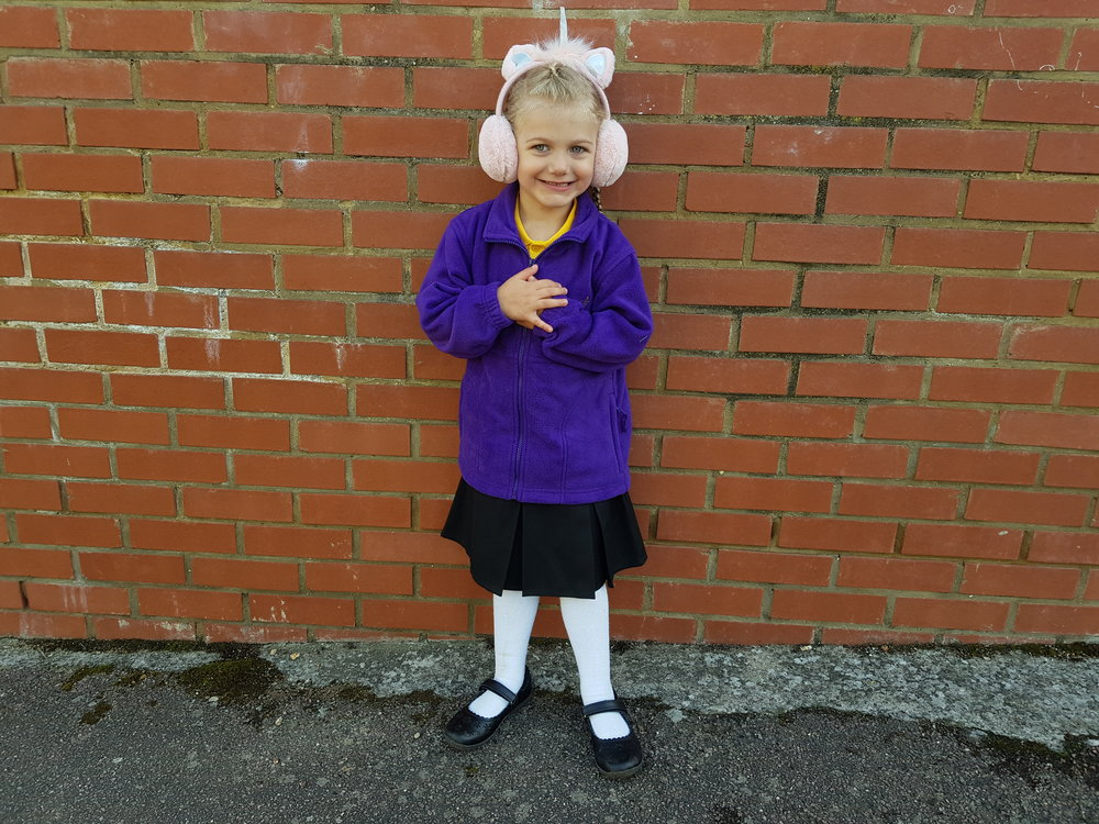 Squidgy starting reception at primary school for the first time