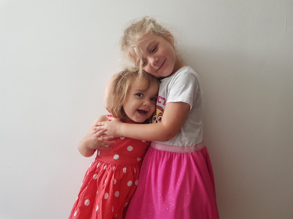 My two beautiful daughters, I got help with my PND and anxiety for them #mentalhealthawarenessday