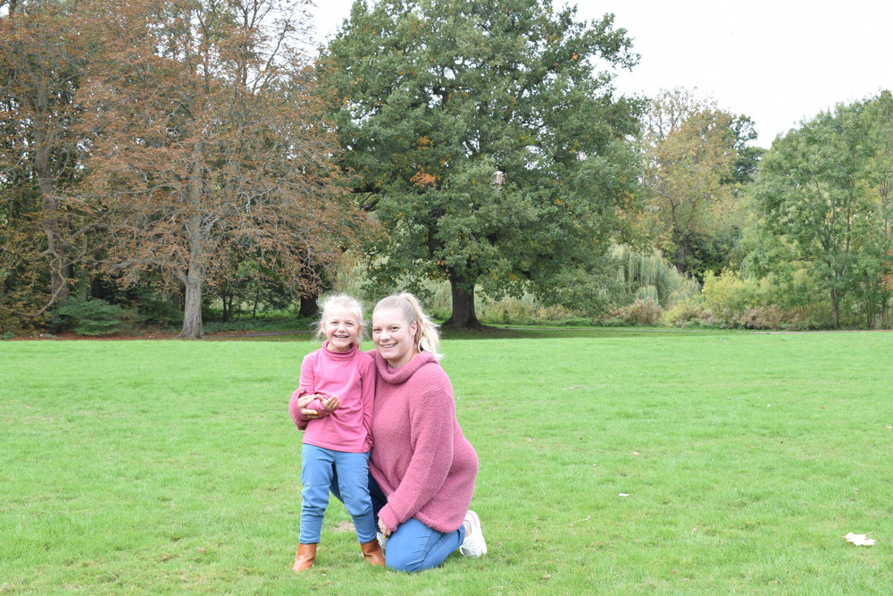 My eldest daughter and me, autumn photos spending time outside