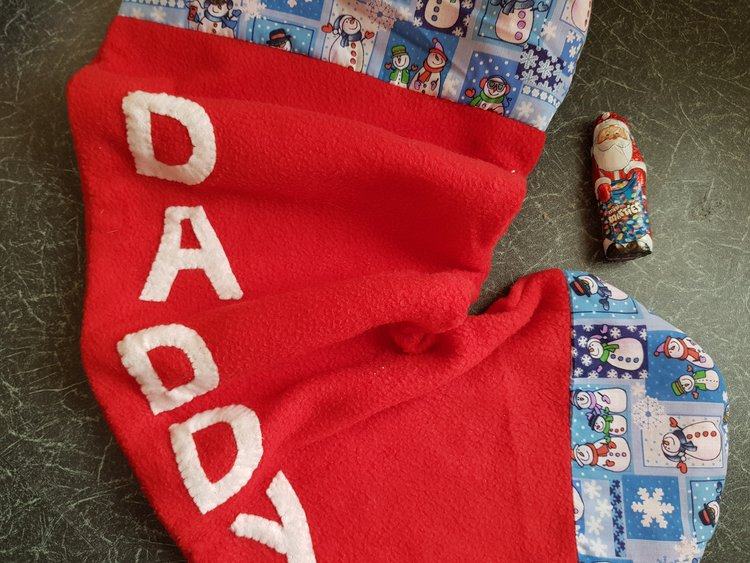 Handmade Daddy stocking