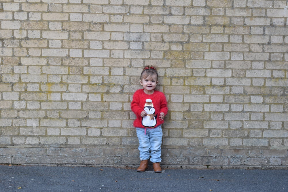 Primark Red Penguin Jumper Me Becoming Mum's Christmas Gifts for Two Year Olds