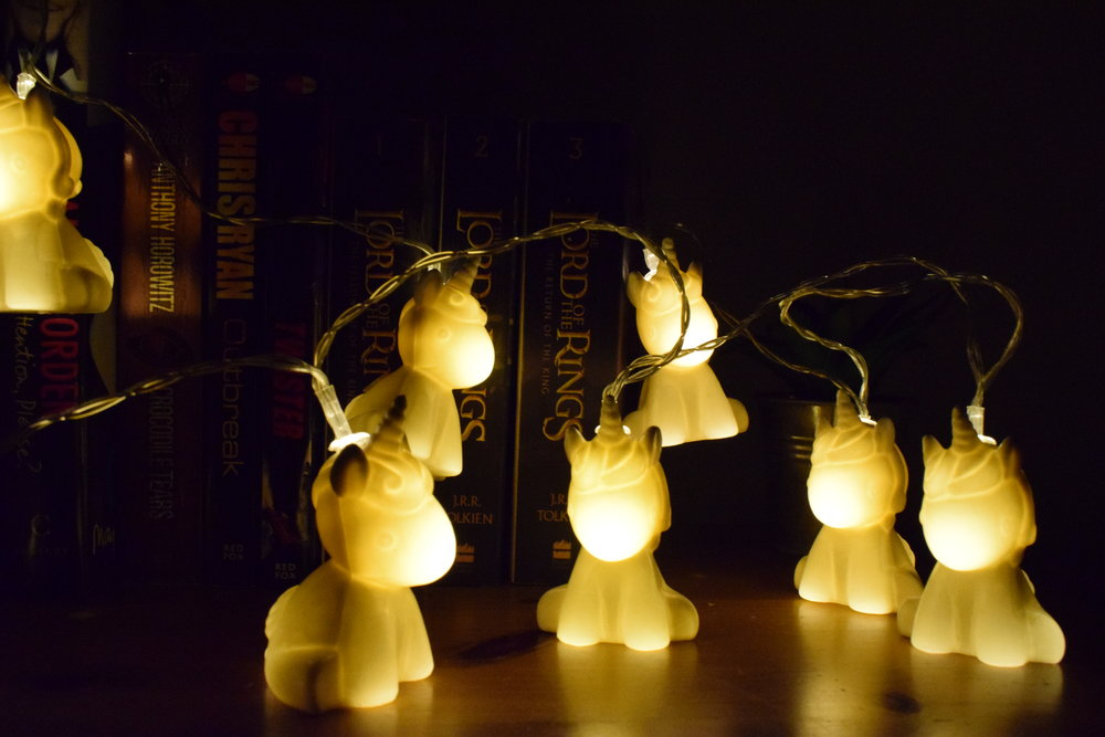 Uncorn String Lights from Find Me a Gift Me Becoming Mum's Stocking Fillers for Under 5s