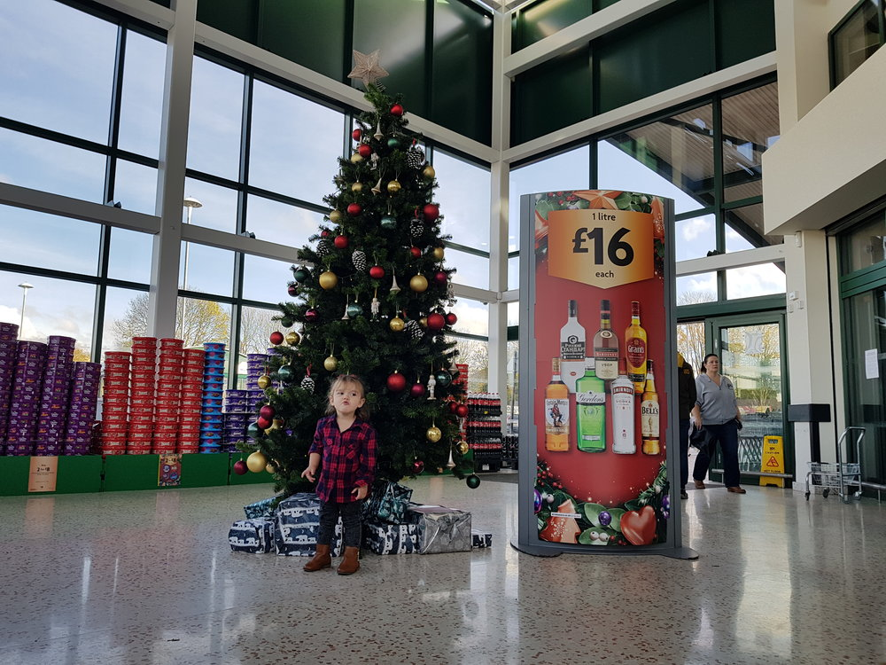 Christmas tree in Morrisons Watford