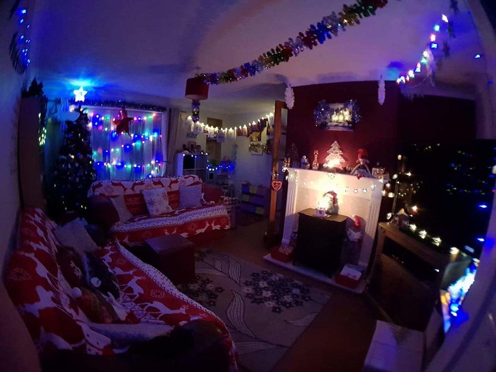 My living room Christmas lights