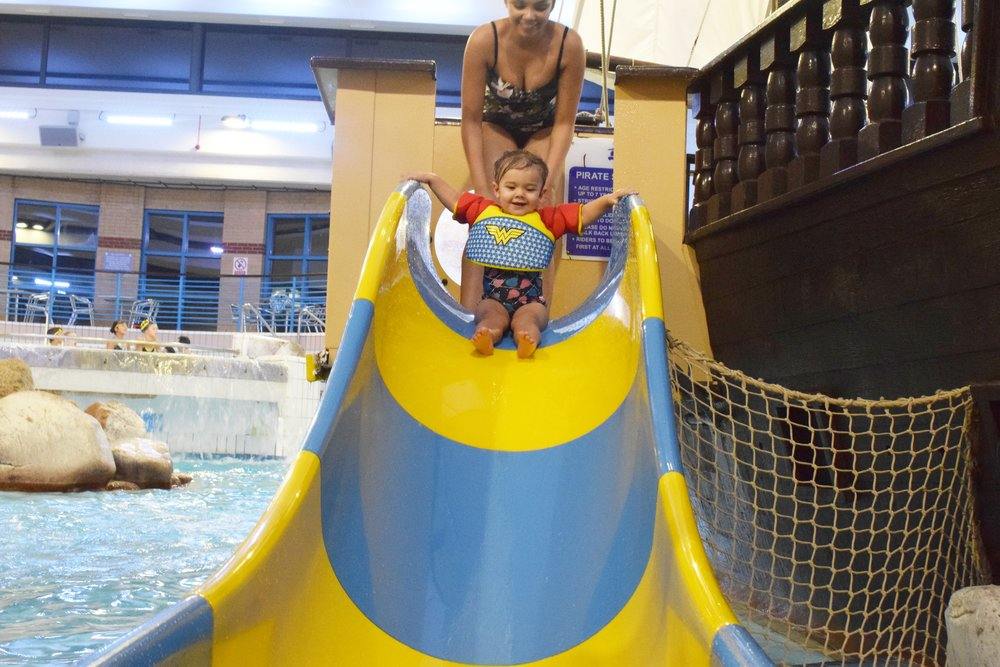 Coral Reef Waterworld in Bracknell Pirate Ship Slide