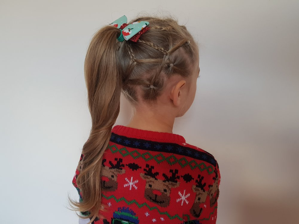 Fancy hairstyles and handmade bows