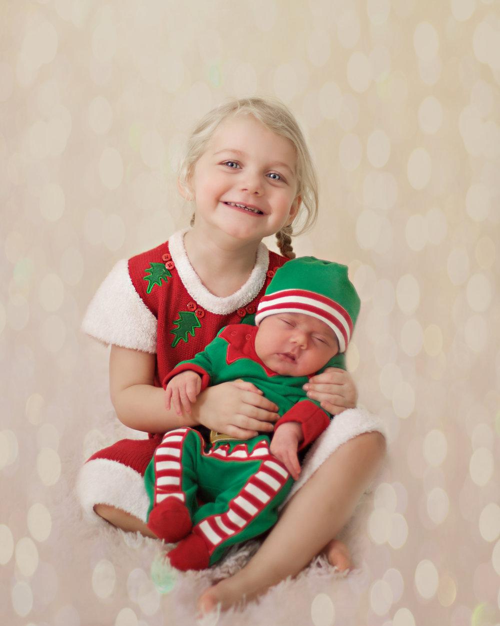 Christmas babies Santa dress and baby elf costume