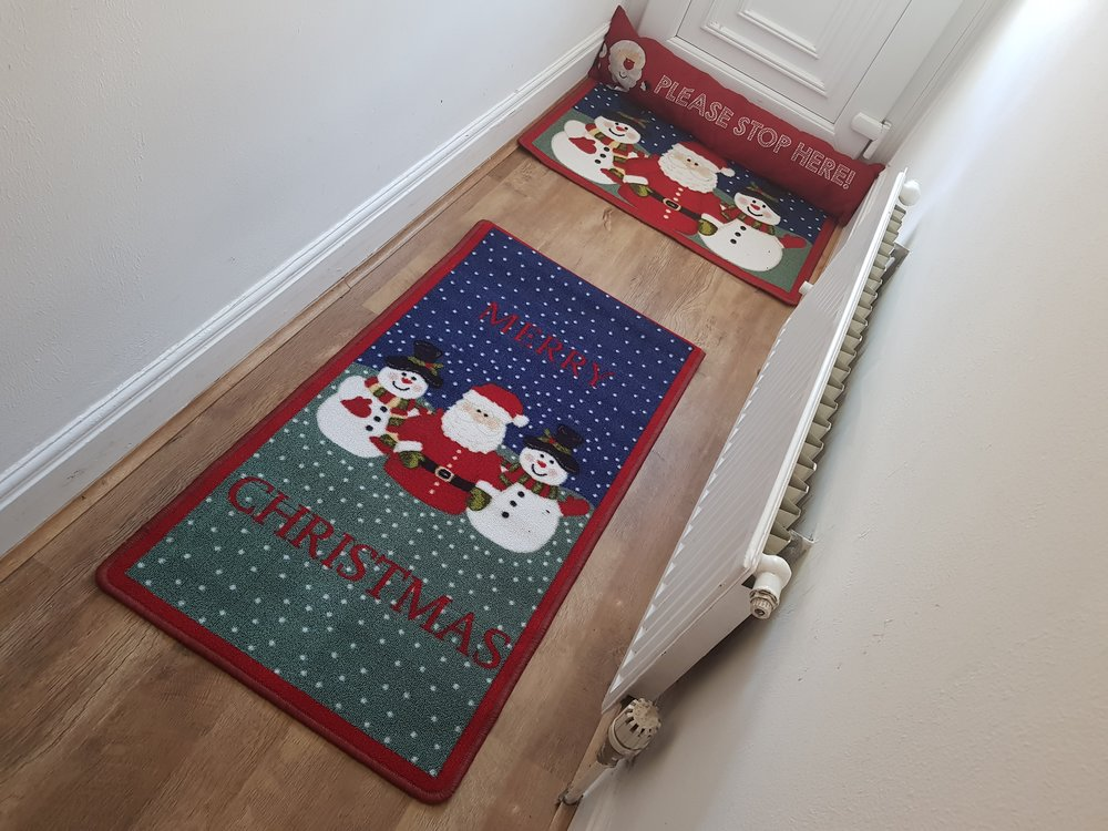 Christmas Hall Runner, Door Mat & Draught Excluder