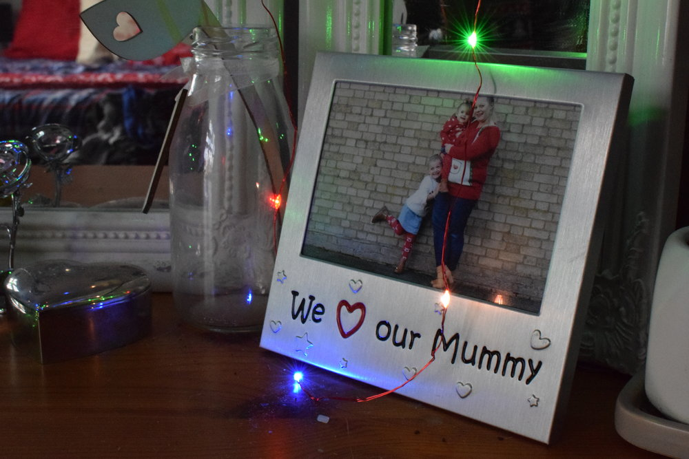 Christmas dressing table photo frames
