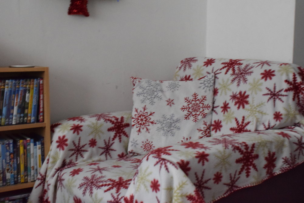 Christmas snowflake arm chair
