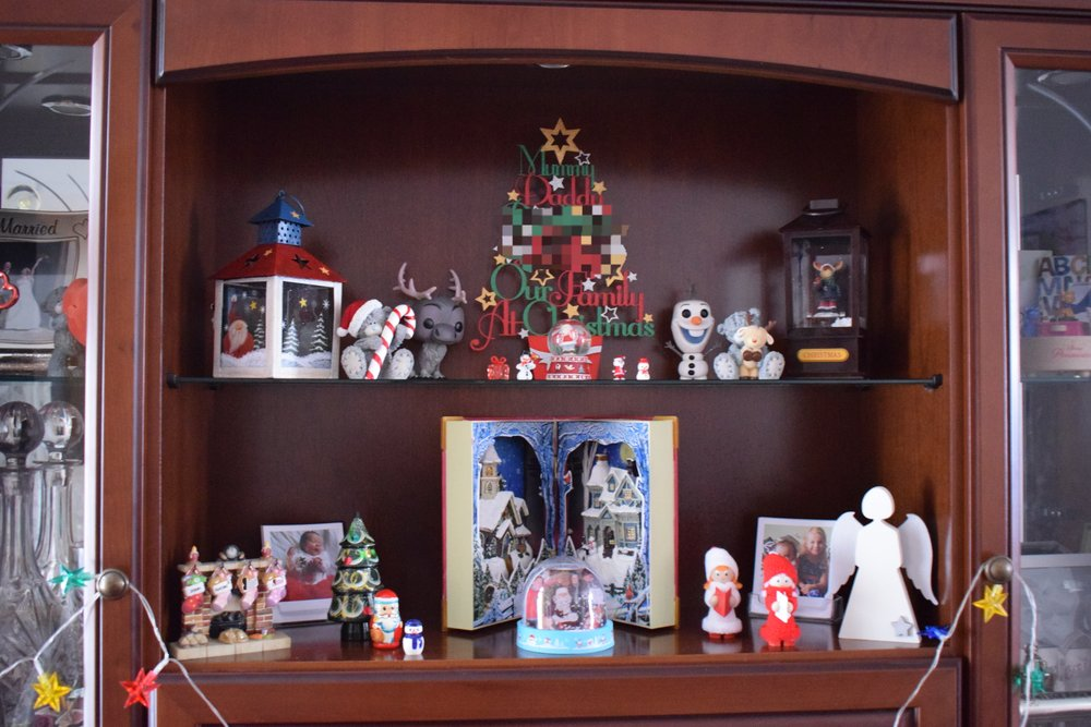 Our Christmas sideboard