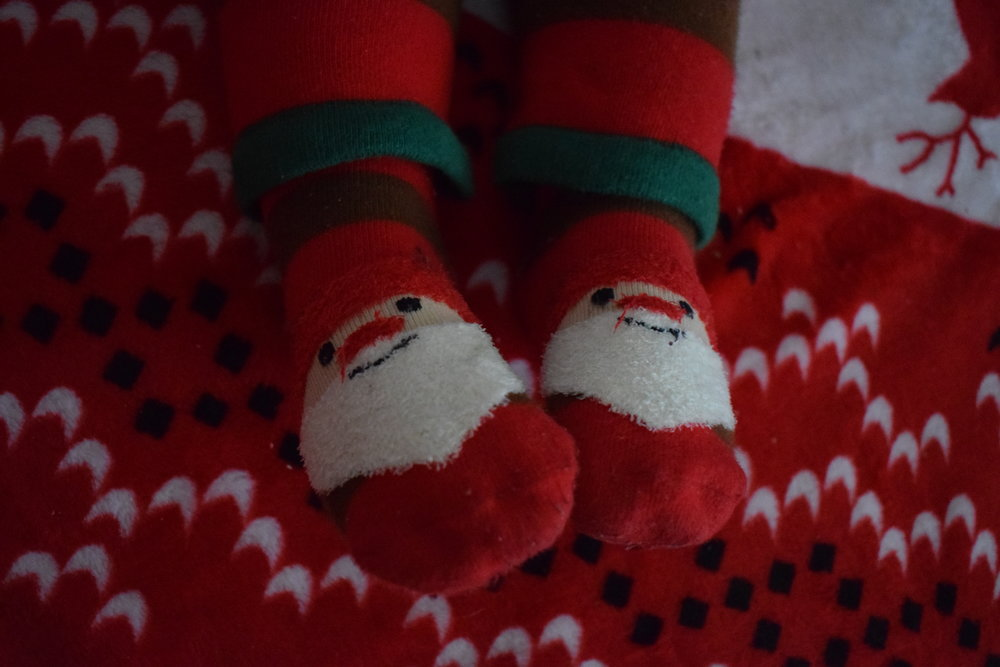 Blade and Rose Santa socks