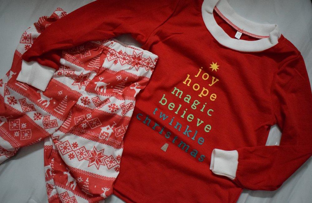 Christmas pyjamas from eBay