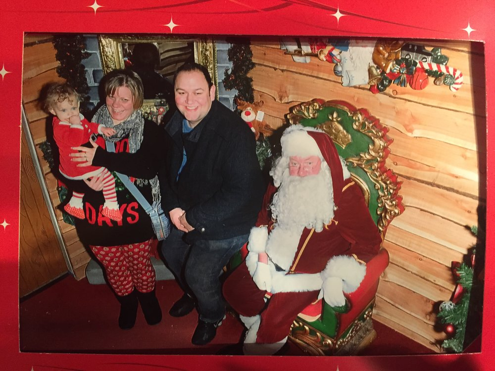 Squidgy's first visit to Santa at Baytree Winter Wonderland