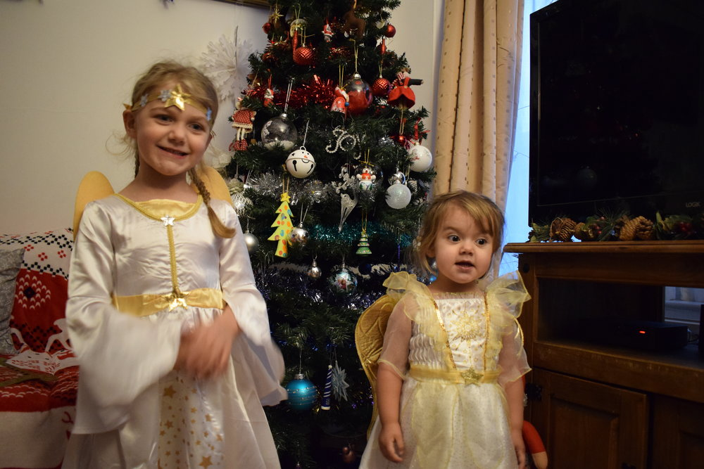 Christmas angels ready for the Nativity