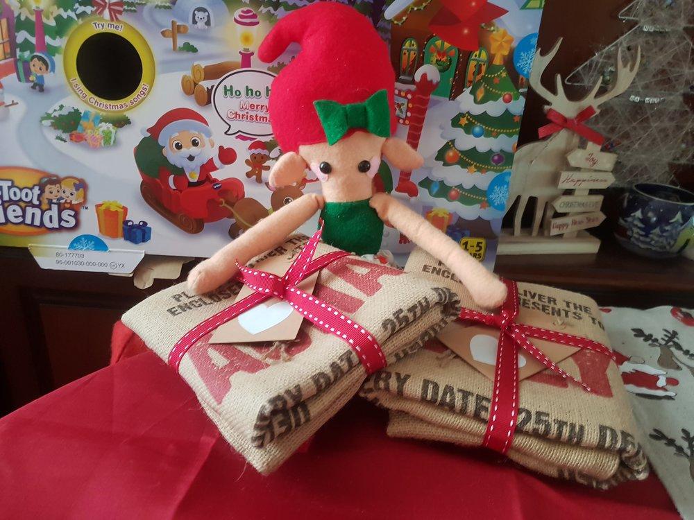 Elf on the Shelf present sacks