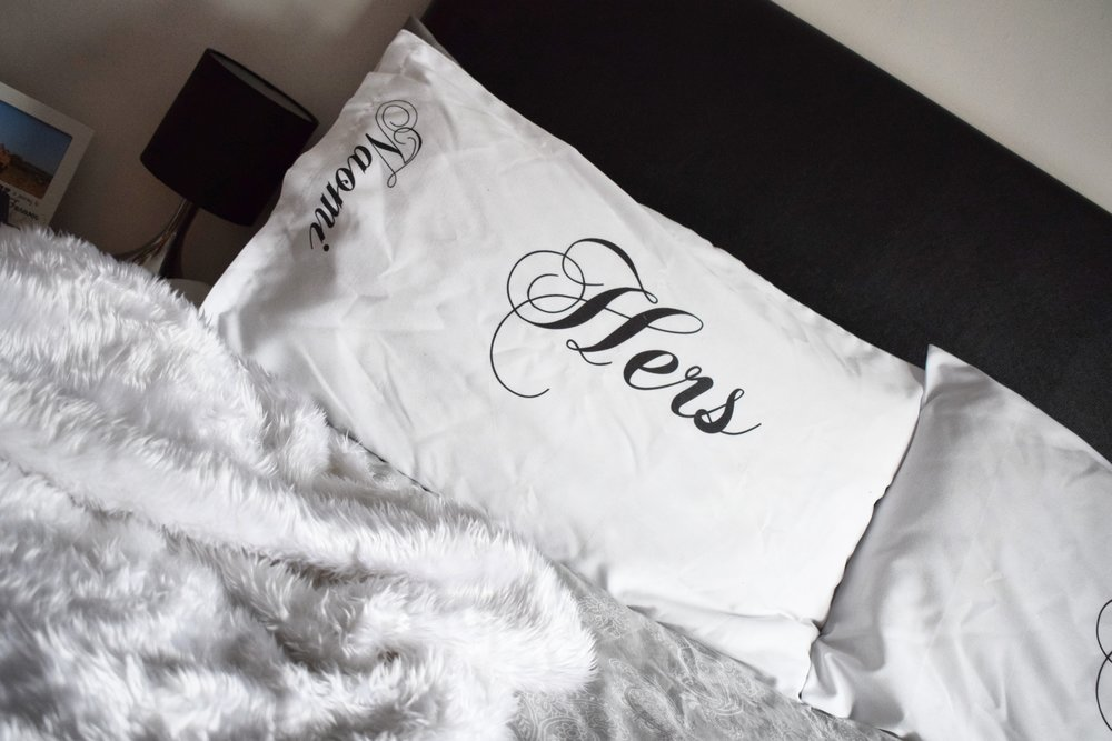 2019 Valentine's Day gifts personalised his and hers pillowcases