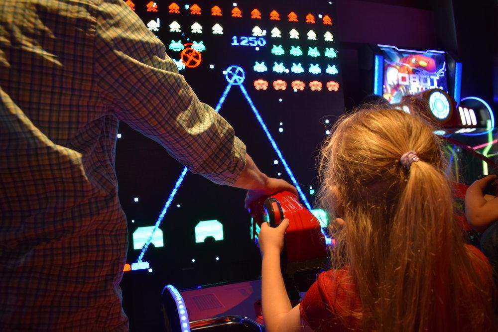 Arcade games at Hollywood Bowl, Intu Watford