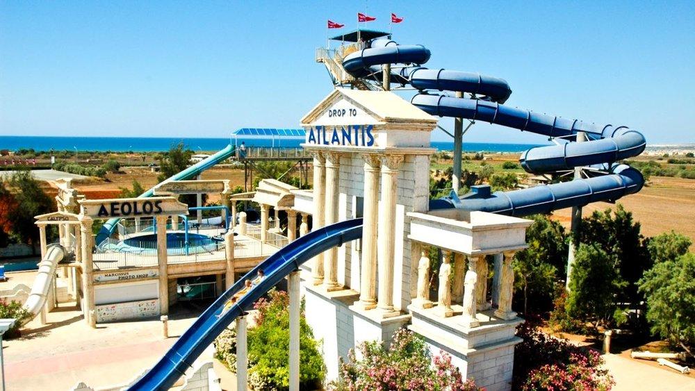 Drop to Atlantis Ride WaterWorld Park