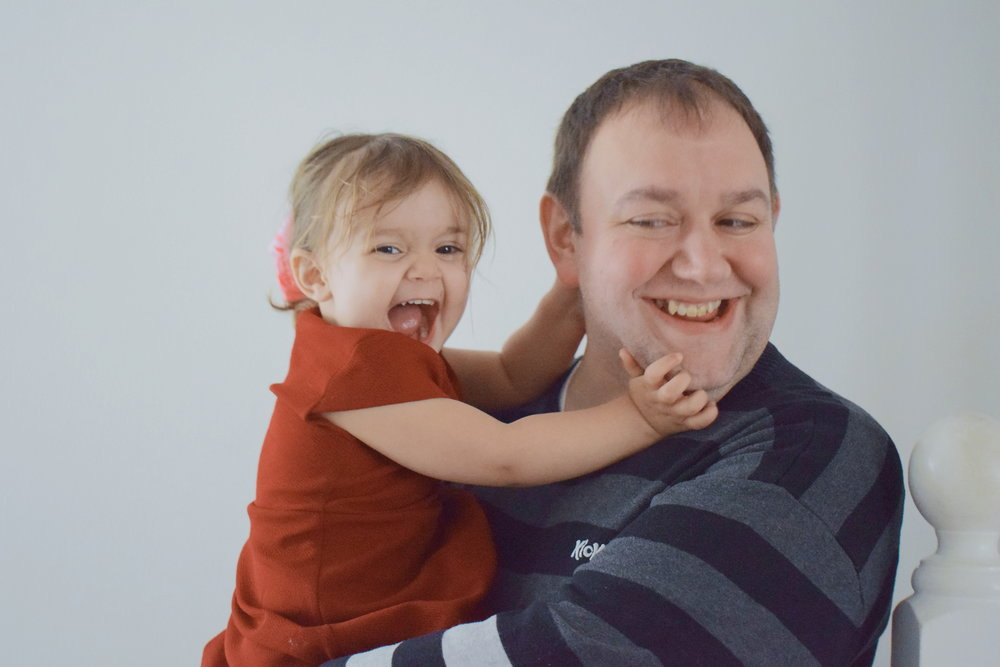 Laughter and fun moments with daddy