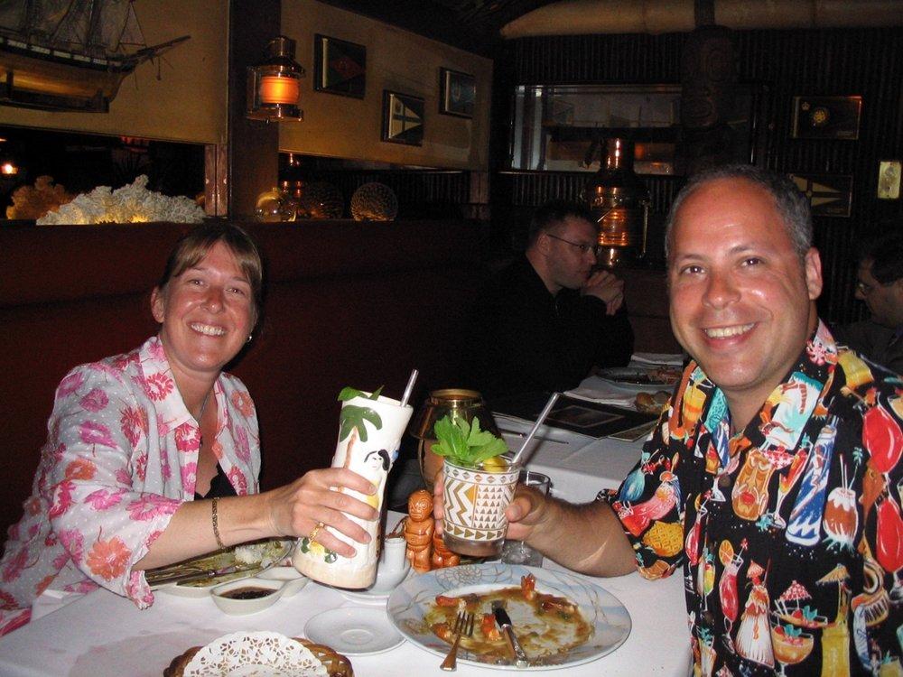 Caroline and Rob at Trader Vic's London June 2003