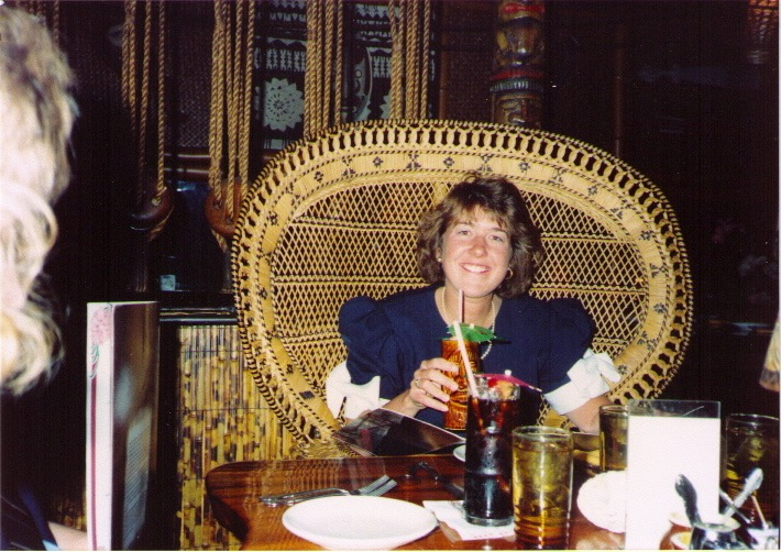 At the Kahiki for college graduation dinner. May 1989