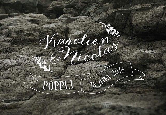 Logo voor het huwelijk van Karolien & Nicolas.  #graphicdesign #graphicdesigner #logo #grafisch #grafischevormgeving #branding #logodesign #design #photography #wedding #weddinglogo #trouwen #iktrouwbelgisch #jaikwil #typography #vormgevers #printmaking