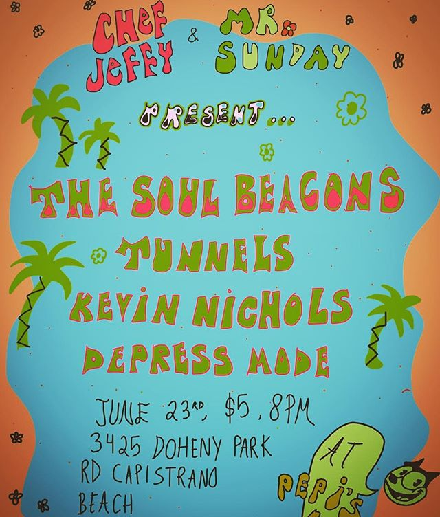 This Friday; shake-it till you break it: The Soul Beacons are coming home! All ages, come prepared to dance your ass off! After party at the jetty🌵 #funk #soul #danceparty #hammondorgan #vinylrecords #tunnelsband #mrsundayproductions @thesoulbeacons #thesoulbeacons @tunnels_band #danapoint
