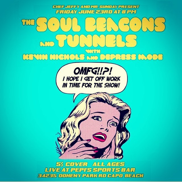 Tonite! Get ready to shake that ass, because The Soul Beacons will be delivering a VW van loaded down with the heavy funk to our home town of Dana Point #soul #funk #tunnelsband #thesoulbeacons #mrsundayproductions #danapoint #vinylrecords #danceparty #hammondorgan