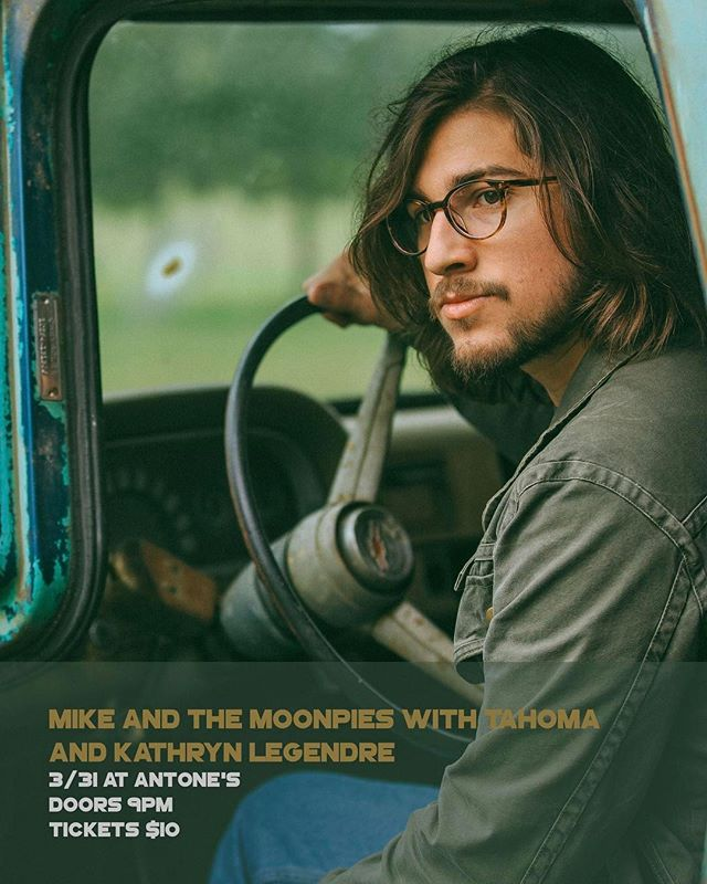 We're at @antonesnightclub on 3/31 with @mikeandthemoonpies and @legendre tickets in the bio!