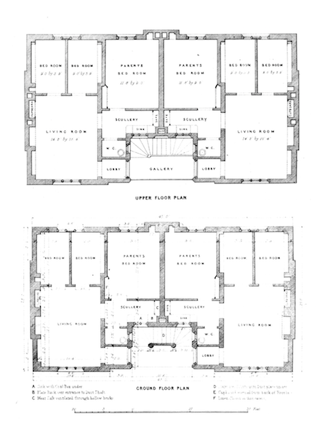 Henry Roberts' model dwelling for four families - 1851