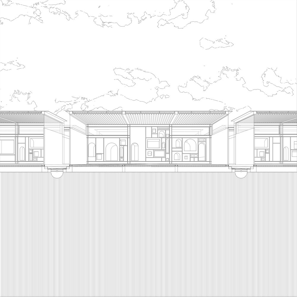 A single storey proposal of the adaptable frame