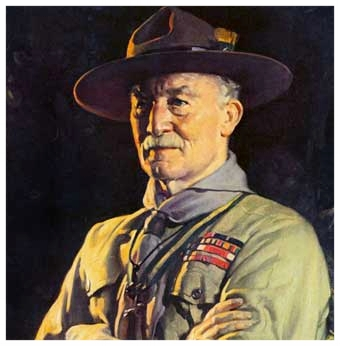 Sir Lord Robert Stephenson Smith Baden Powell, su nombre completo.