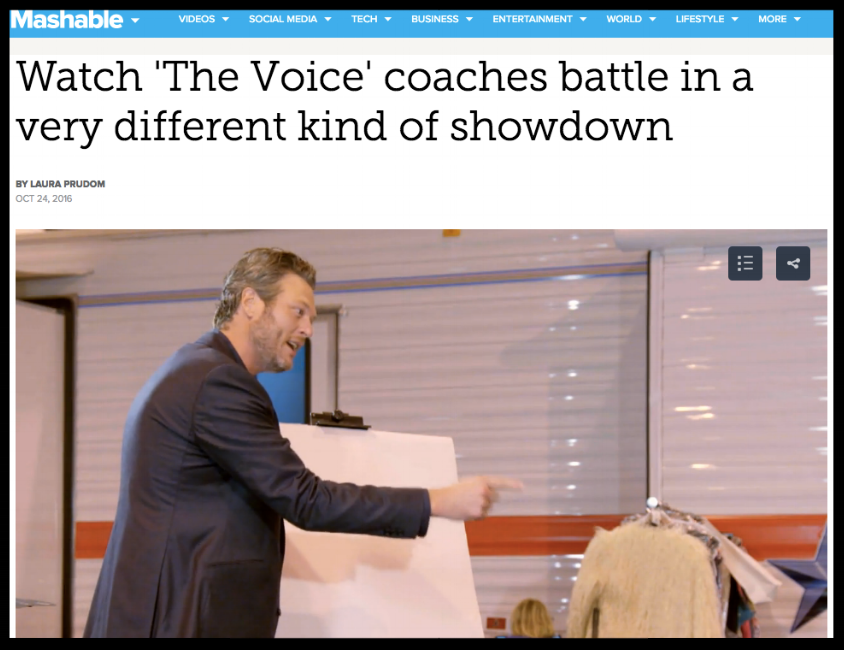MASHABLE the voice