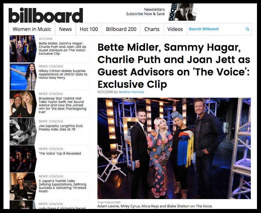 billboard advisors the voice