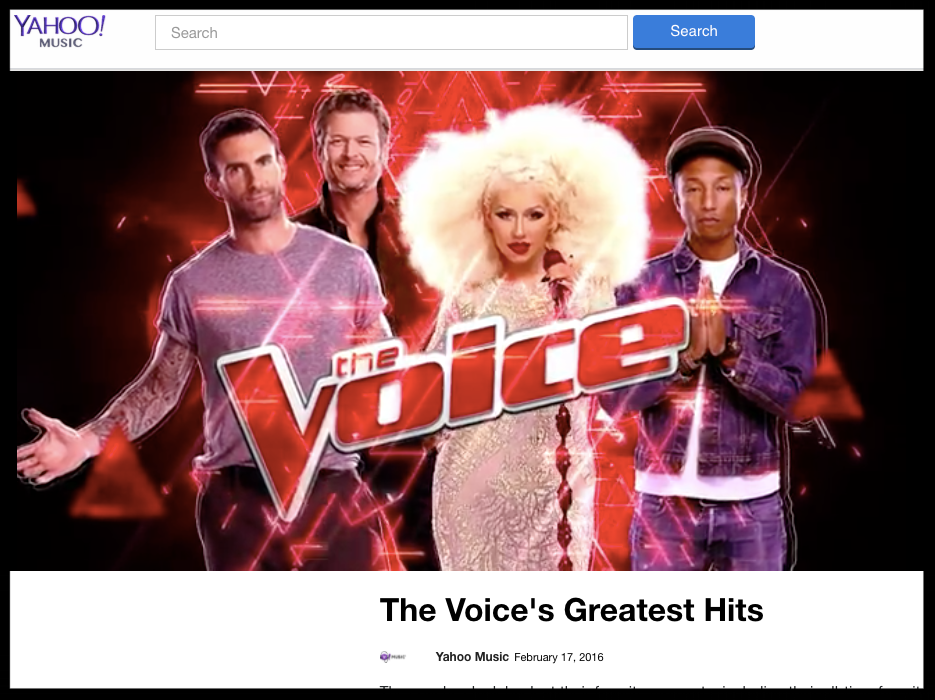 yahoo the voice