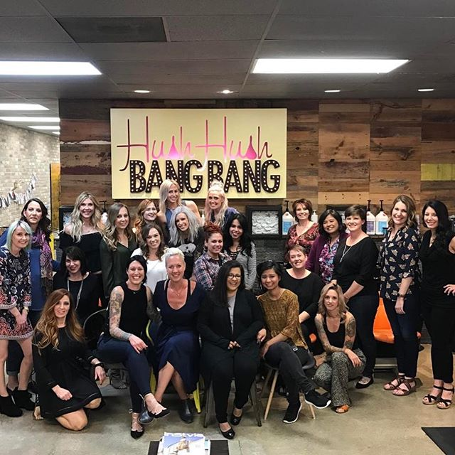 Such an amazing night with these fierce mamas! Thank you @maxloveproject for letting us be a part of it. #hushhushbangbang #maxloveproject #fuckcancer #fightchildhoodcancer